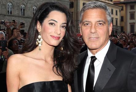 Джордж Клуни с супругой Амаль Аламуддин