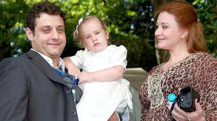 Михаил Полицеймако с супругой Ларисой и дочкой