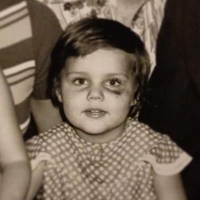 Ольга Шелест в детстве