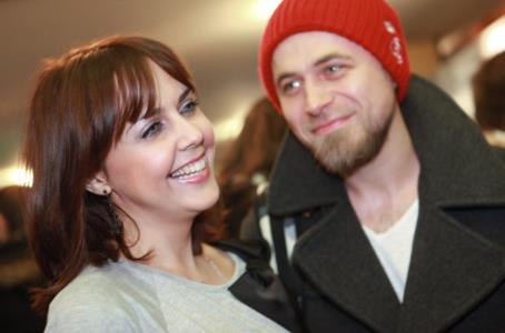 Ольга Шелест с супругом Алексеем Тишкиным