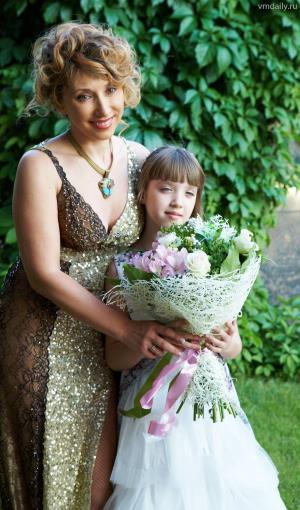 Елена Воробей с дочкой Соней