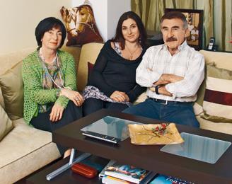 Леонид Каневский с супругой Анной и дочерью Натальей