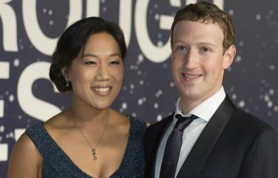 Марк Цукерберг с супругой