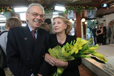 Алексей Баталов с супругой Гитаной Леонтенко