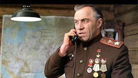 Михаил Ульянов в роли маршала Жукова