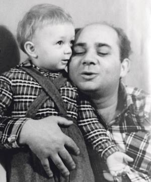 Евгений Леонов с сыном - будущим актером Андреем Леоновым