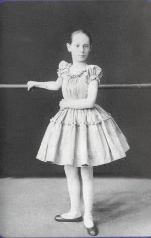 Анна Павлова в детстве 1892 г