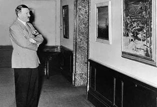 Даже став во главе Третьего рейха, Адольф Гитлер активно интересовался работами других художников