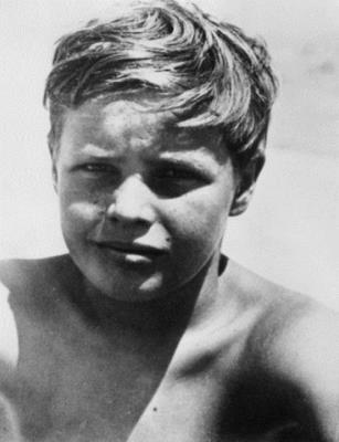 Марлон Брандо в детстве
