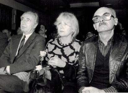 Булат Окуджава с женой Ольгой Арцимович