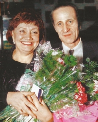Лариса Лужина с мужем Вячеславом Матвеевым