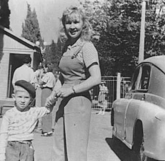 Екатерина Савинова с сыном Андреем Ташковым