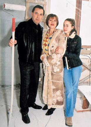 Любовь Успенская с мужем и любимой дочкой