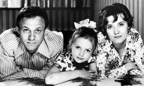 Юлия Меньшова в детстве с родителями