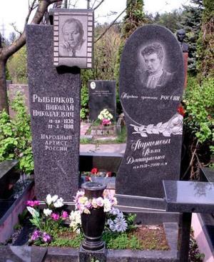 Могила Николая Рыбникова и Аллы Ларионовой