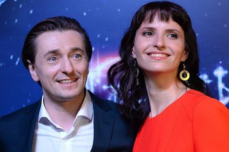 Сергей Безруков с супругой Анной Матисон