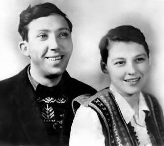 Юрий Никулин с будущей женой Татьяной в молодости, 1949 год