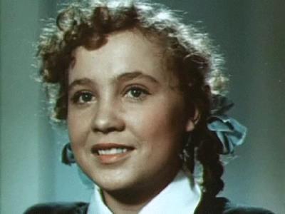 Надежда Румянцева в роли Маруси Родниковой, 1952 г