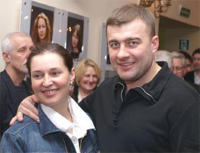 Михаил Пореченков с женой Ольгой