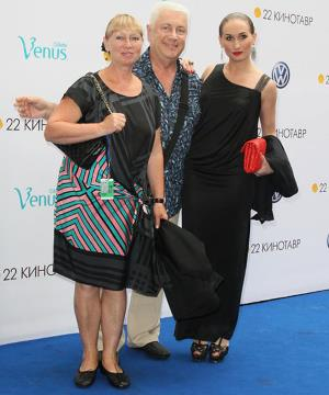 Владимир Винокур с женой и дочерью