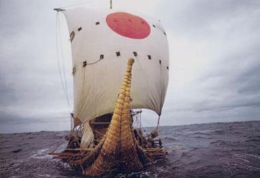 Путешествие на лодке из папируса