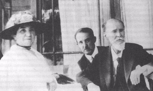 Карл Фаберже с женой Августой и сыном Евгением