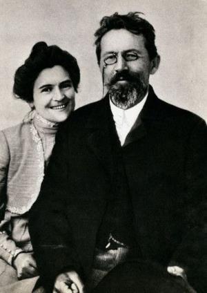 Ольга Книппер Чехова с мужем Антоном Чеховым