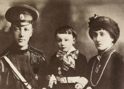 Анна Ахматова, Николай Гумилев с сыном Львом