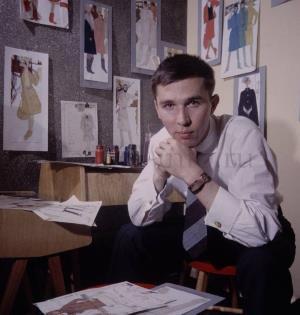 Молодой модельер Слава Зайцев, 1963 г.