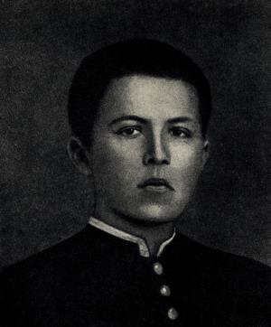 Антон Чехов в студенческие годы в гимназии.