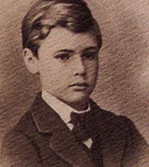Альфред Нобель в детстве
