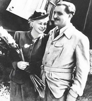 Валентина Серова и Константин Симонов 1946 г.