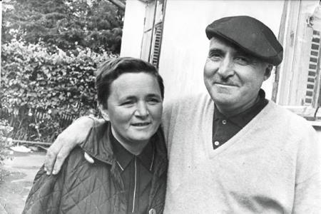 Константин Симонов с последней женой Ларисой Жадовой