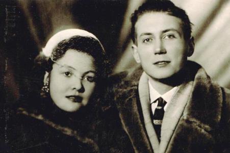 Евгений Евтушенко с первой женой Беллой Ахмадулиной