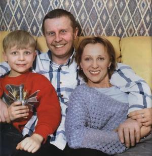 Елена Яковлева с мужем Валерием Шальных и сыном