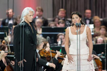 Анна Нетребко и Дмитрий Хворостовский на концерте