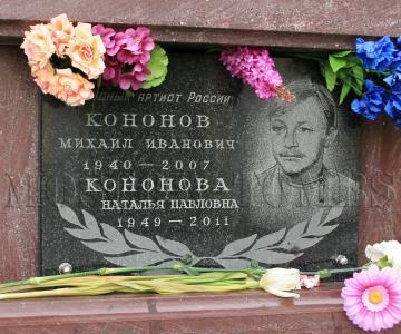 Могила Михаила Кононова