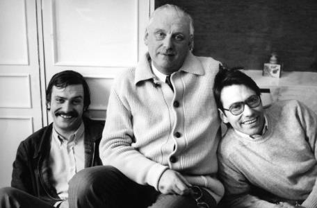 Сергей Михалков с сыновьями в молодости