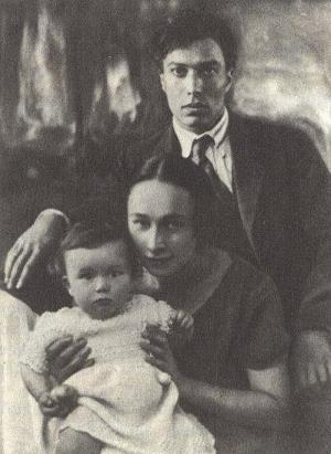 Борис Пастернак с Евгенией Лурье и сыном Женей