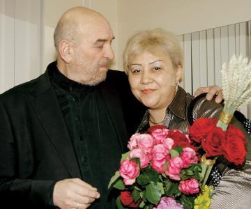 Алексей Петренко с третьей (последней) женой Азимой