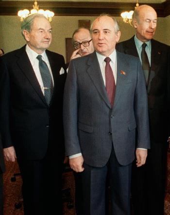 Дэвид Рокфеллер с Горбачевым