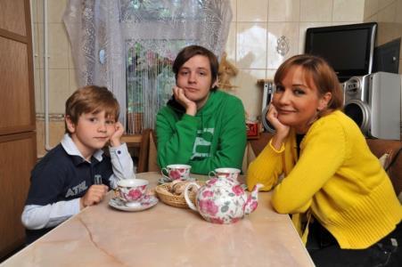 Татьяна Буланова с детьми
