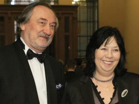 Богдан Ступка и жена Лариса Корниенко