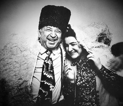 Расул Гамзатов с женой