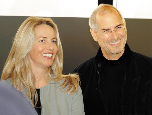 Стив Джобс с супругой Лорен Пауэлл