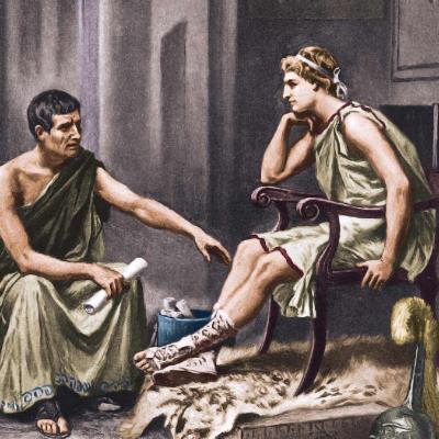 Александр Македонский и Аристотель