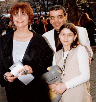 Константин Райкин с супругой Еленой Бутенко и дочерью Полиной