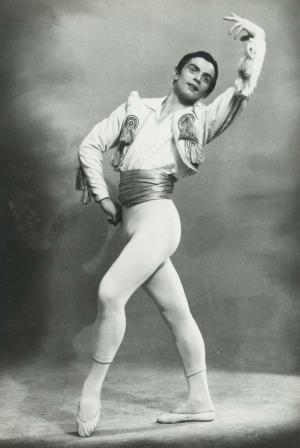 Рудольф Нуриев на сцене балета