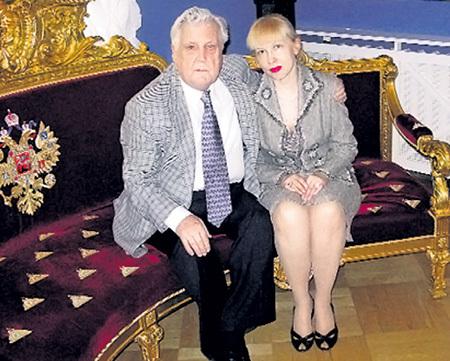 Илья Глазунов со второй женой Инессой Орловой
