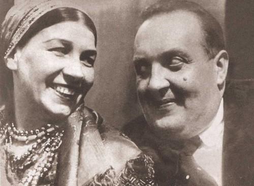 Лидия Русланова с Михаилом Гаракви